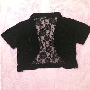 Knit lace cardigan